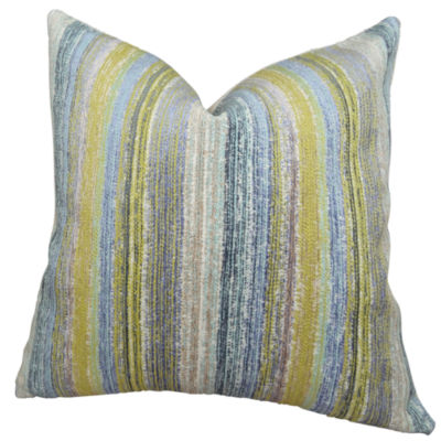 Plutus Spoft Strie Cornflower Handmade Throw Pillow