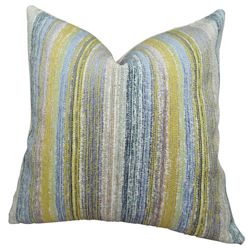 Plutus Spoft Strie Cornflower Handmade Throw Pillow