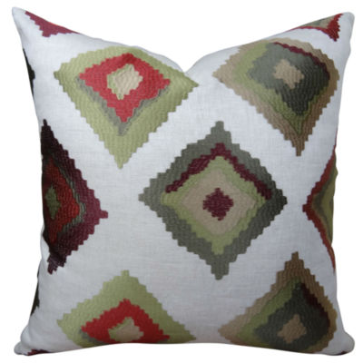 Plutus Red Earth Native-Trail Handmade Throw Pillow