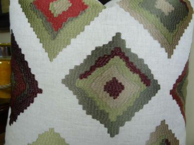Plutus Red Earth Native-Trail Handmade Throw Pillow