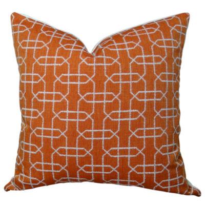 Plutus Ardmore Persimmon Handmade Throw Pillow