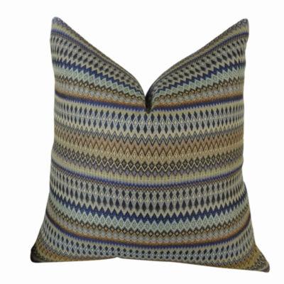 Plutus Zig Along Indigo Handmade Pillow
