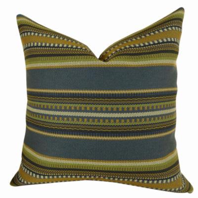 Plutus Chic Stripe Indigo Handmade Pillow