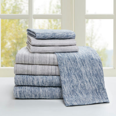 Urban Habitat Space Dyed Cotton Jersey Easy Care Sheet Set