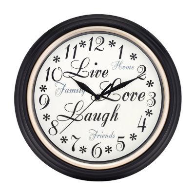 "Westclox 12"" Round Inspirational Wall Clock"""