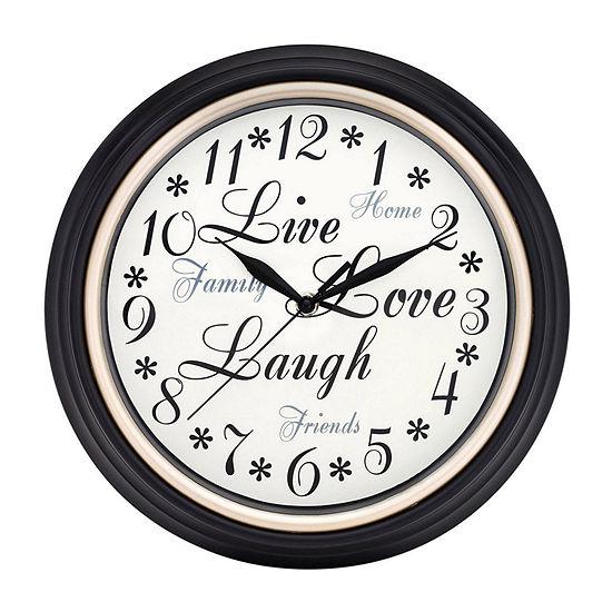 "Westclox 12"" Round Inspirational Wall Clock-32032a"