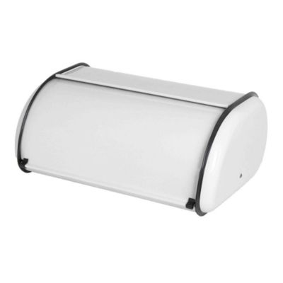 White Home Basics Stainless Steel Cake Bread Box Kitchen Food Storage  Container