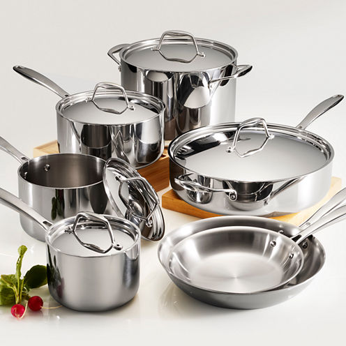 Tramontina Gourmet 12-pc. Tri-Ply Clad 18/10 Stainless Steel Induction-Ready Cookware Set