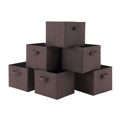 Capri Set of 6 Foldable Fabric Baskets