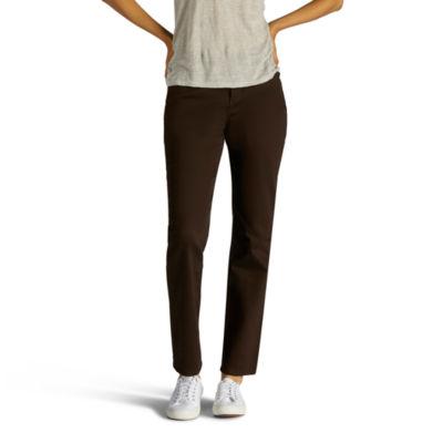 Lee Classic Fit Color Straight Leg Jeans-Petites