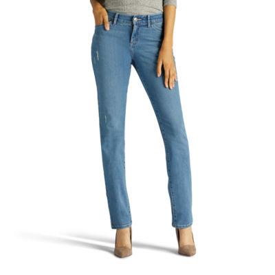 Lee Total Freedom Straight Leg Jeans-Petites
