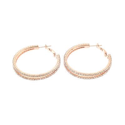 Bijoux Bar 1 3/4 Inch Hoop Earrings