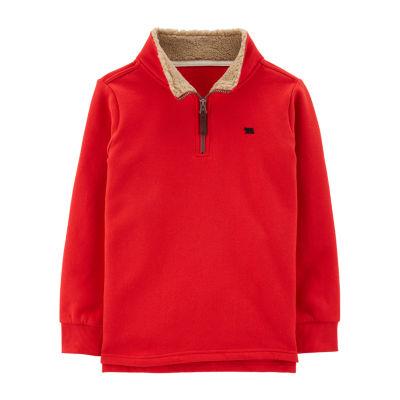 Carter's Half Zip Fleece Sherpa Collar Quarter-Zip Pullover Boys