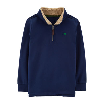 Carter's Fleece Sherpa Collar Quarter-Zip Pullover Boys