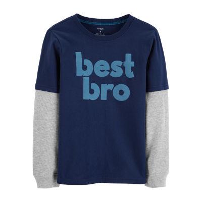 Carter's Long Sleeve Round Neck T-Shirt Boys