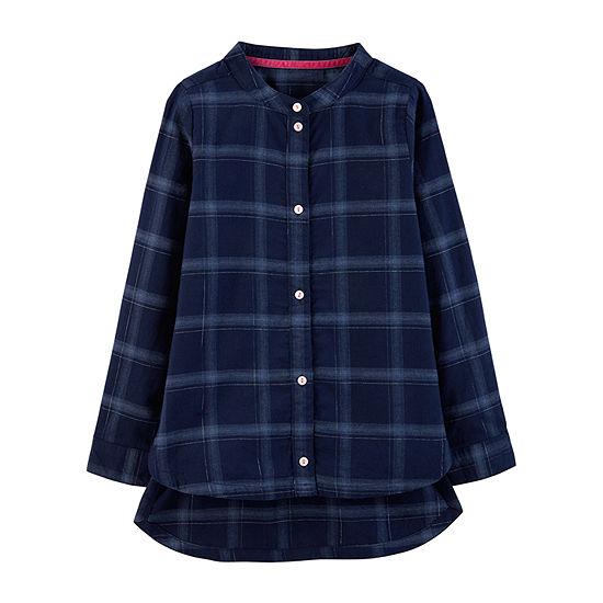 Carter's Graphic T-Shirt-Preschool Girls Girls Round Neck Long Sleeve Tunic Top Preschool / Big Kid