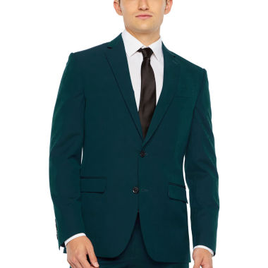 JF J.Ferrar Dark Teal Super Slim Fit Stretch Suit Jacket