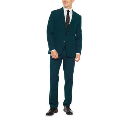 JF J Ferrar Dark Teal Super Slim Stretch Suit Separates