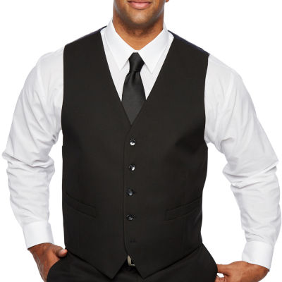 Shaquille O'Neal XLG - Big and Tall Black Stretch Suit Vest