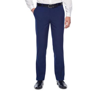 JF J.Ferrar Bright Blue Classic Fit Stretch Suit Pants