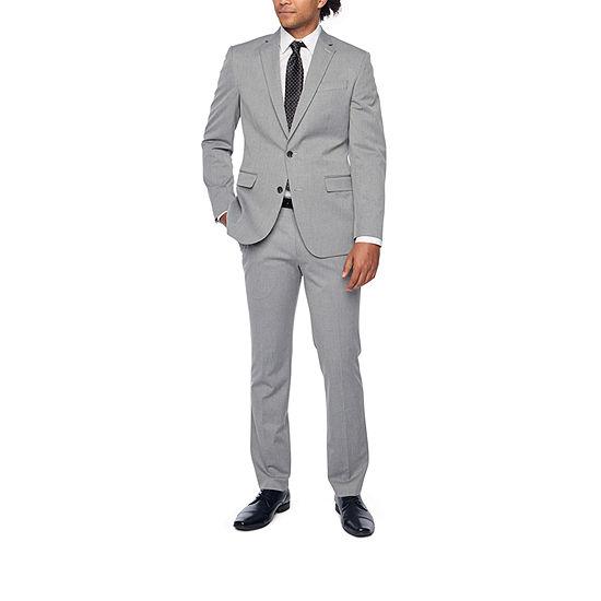 Jf J Ferrar Light Gray Texture Suit Separates Big Tall