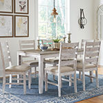 Signature Design by Ashley® Skempton 7-Piece Dining Table and Chairs Set