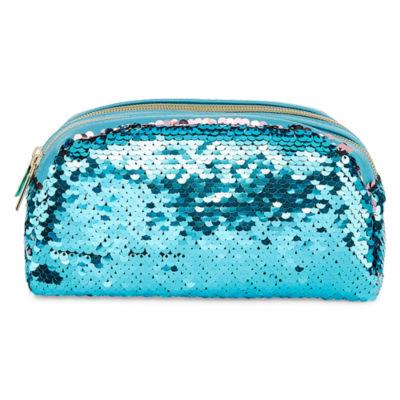 Double Zip Sequin Makeup Bag