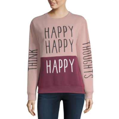 """Think Happy Thoughts"" Sweatshirt - Juniors"