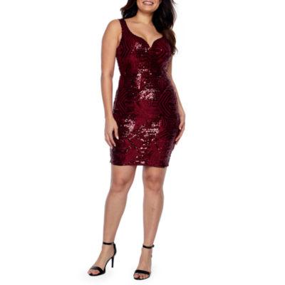Premier Amour Sleeveless Sequin Sheath Dress