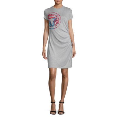 Disney Disney Design Challenge Short Sleeve Fit & Flare Dress-Juniors