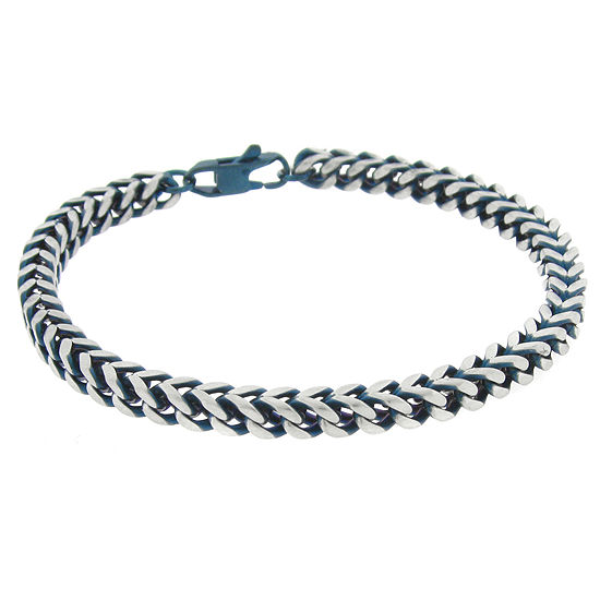 Stainless Steel 8 1 2 Inch Solid Wheat Chain Bracelet
