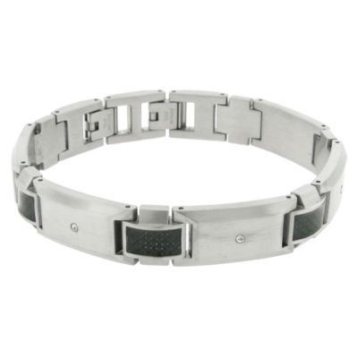 Stainless Steel 9 Inch Solid Link Link Bracelet