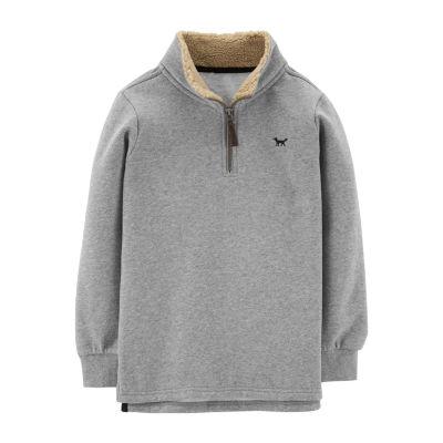 Carter's Boys High Neck Long Sleeve Pullover Sweater Big Kid