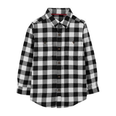 Carter's Long Sleeve Plaid Flannel Shirt Boys