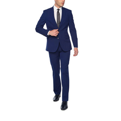 JF J. Ferrar Bright Blue Super Slim Fit Stretch Suit Separates