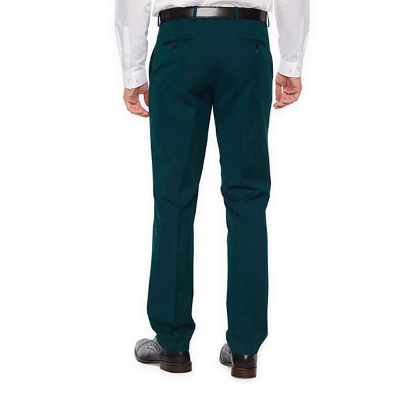 JF J.Ferrar Dark Teal Super Slim Fit Stretch Suit Pants