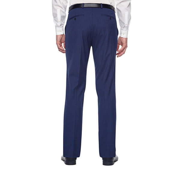 JF J.Ferrar Plaid Classic Fit Stretch Suit Pants - Big and Tall