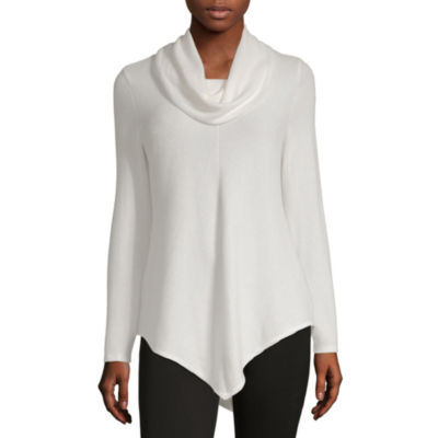 by&by Womens Long Sleeve Pullover Sweater-Juniors