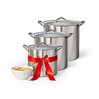 3-Pack Cooks 101992 Stainless Steel Stockpot