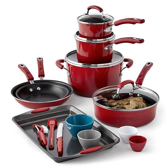 Rachael Ray 18-pc. Aluminum Non-Stick Cookware Set