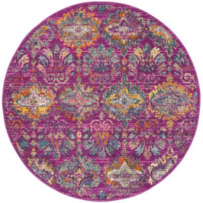 Safavieh Madison Collection Alina Geometric Round Area Rug