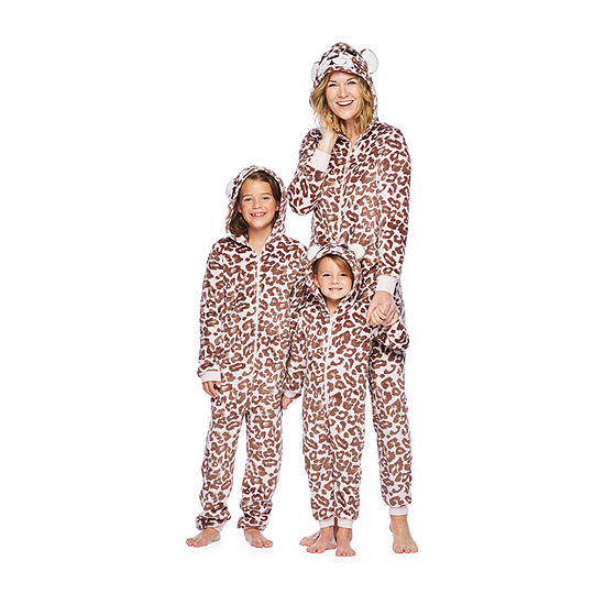 Mommy & Me White Leopard One Piece Pajama