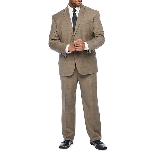 Stafford Tan Tic Super Suit Big and Tall Fit Suit Separates