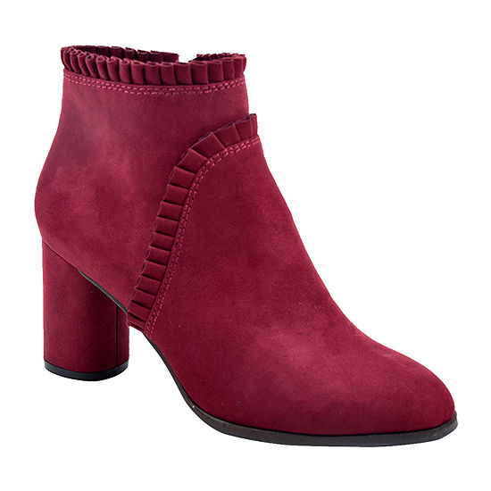 New York Transit Womens Rheba Spool Heel Booties