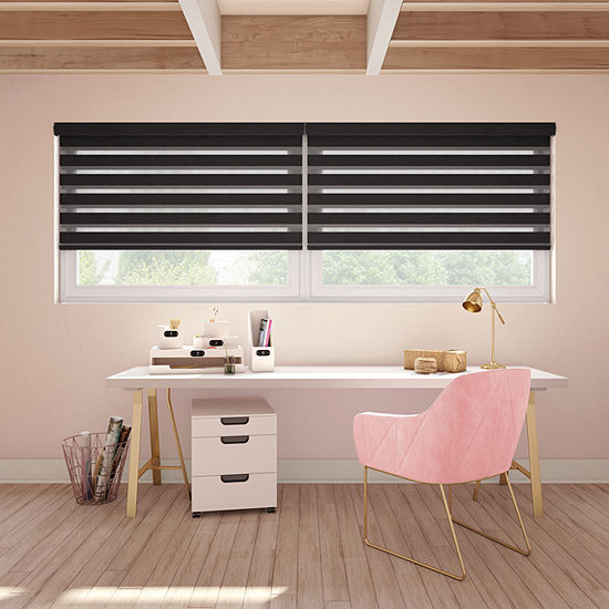 LEVOLOR Terra Banded Custom Light-Filtering Cordless Sheer Shades