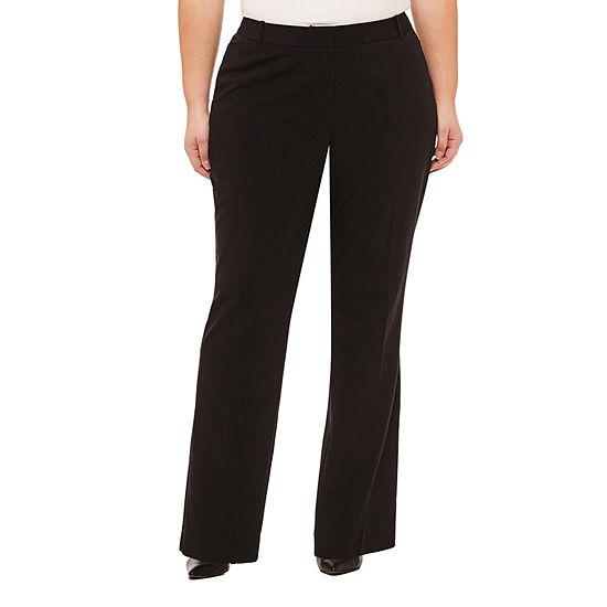 Worthington Womens Curvy Fit Trouser - Plus