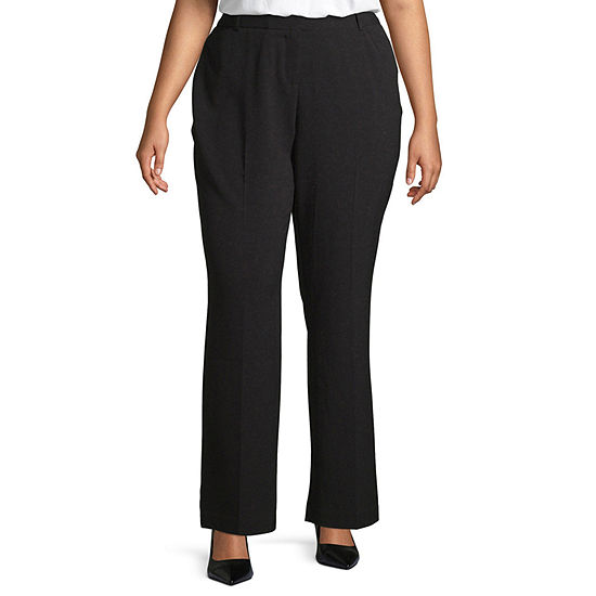 Worthington Womens Perfect Fit Trouser - Plus