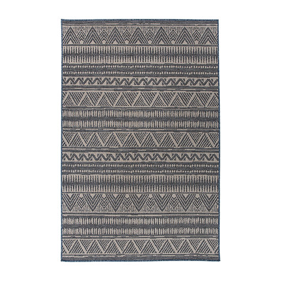 World Rug Gallery Geometric Bohemian Rectangular Indoor/Outdoor Rugs