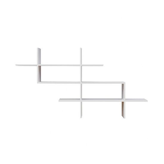 Danya B White 3-Tier Hanging Criss Cross Wall Shelf