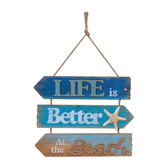 Danya B Life Is Better At The Beach Wall Sign